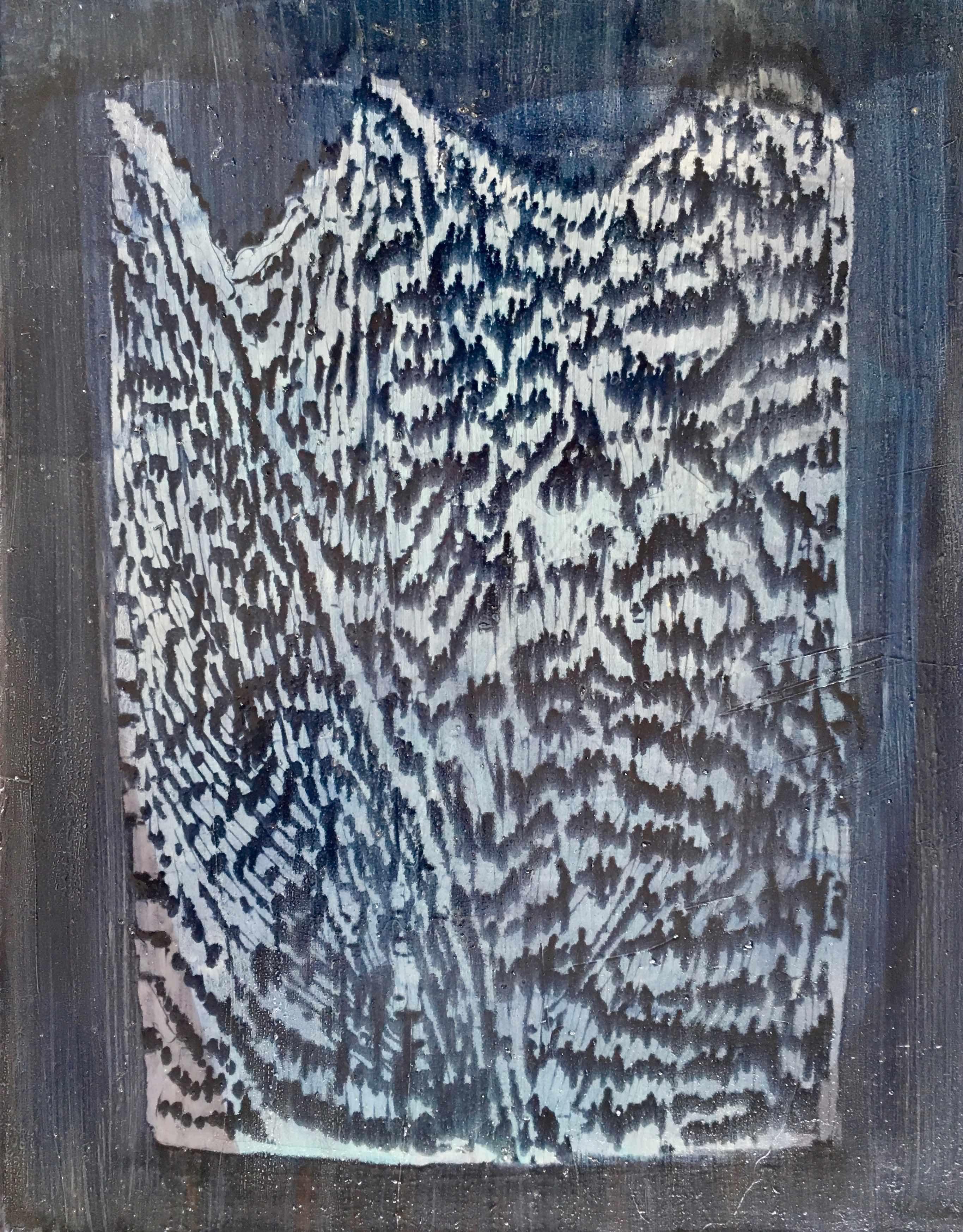 Plenk.Trapped 55x75cm, Öl auf Leinwand, 2018